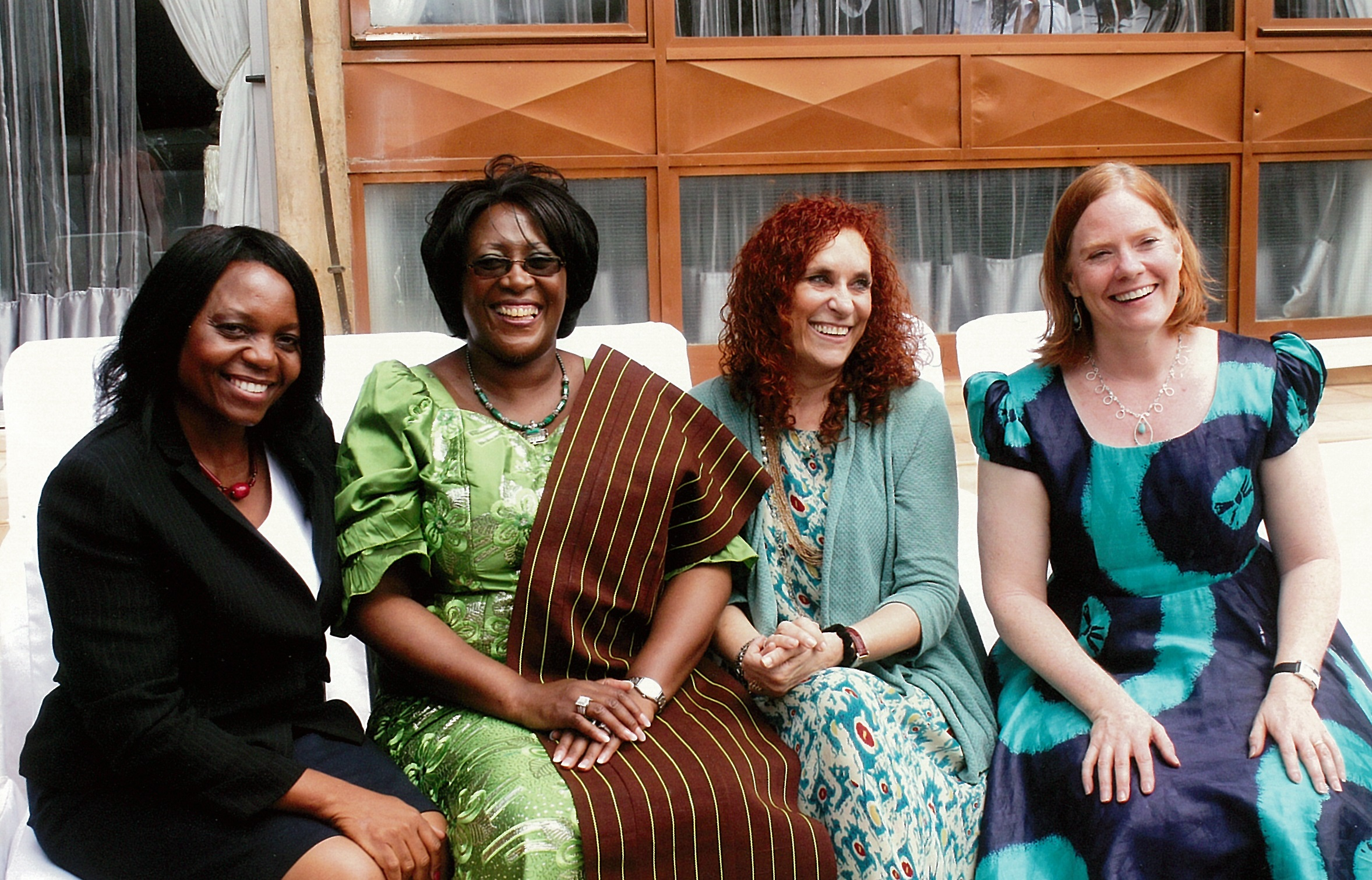 (L to R Zambia NASG staff Rachel Sumotwe, First Lady Dr Kaseba, NASG Project PI Dr. Suellen Miller, NASG Project Director Elizabeth Butrick